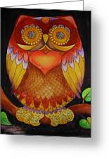 Loving Owl Greeting Card by Lou Cicardo