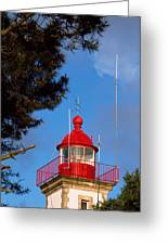 Low Angle View Of A Lighthouse, Morgat Greeting Card