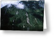 Low Angle View Of A Mountain, Milford Greeting Card