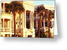 Low Angle View Of Historic Houses Greeting Card