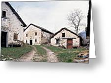 Low Angle View Of Houses In A Village Greeting Card