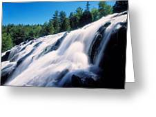 Low Angle View Of The Bond Falls Greeting Card
