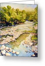 Low Flowing Creek Greeting Card