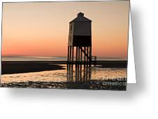 Low Lighthouse Sunset Greeting Card