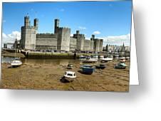 Low Tide At Caernarfon Greeting Card by Jane Rix