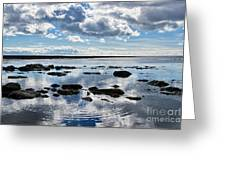 Low Tide At Lyme Regis 2 Greeting Card
