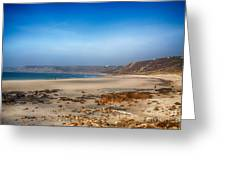 Low Tide At Sennen Cove Greeting Card