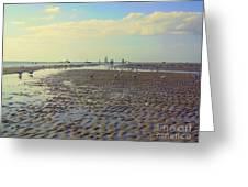 Low Tide At Siesta Beach Greeting Card