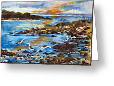 Low Tide At West Neck Beach Greeting Card