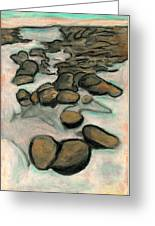 Low Tide Greeting Card by Carla Sa Fernandes