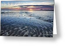Low Tide East Beach Greeting Card