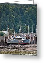Low Tide Fishing Boat Greeting Card