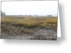 Low Tide Fog Greeting Card