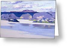 Low Tide  Iona Greeting Card by Francis Campbell Boileau Cadell