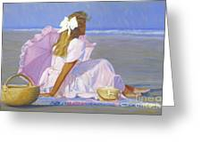 Low Tide Lady Greeting Card