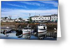 Low Tide Plymouth Ma Greeting Card