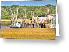 Low Tide - Shrimp Boat Greeting Card