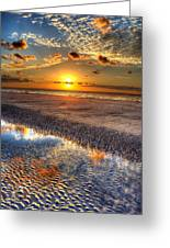 Low Tide Sunrise On Jekyll Island Greeting Card