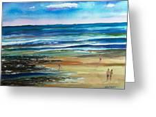 Low Tide Wells Beach Maine Greeting Card
