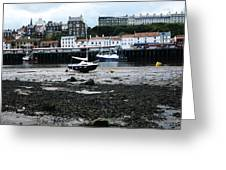Low Tide Whitby Greeting Card