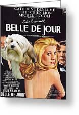 Lowchen Art - Belle De Jour Movie Poster Greeting Card
