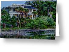 Lowcountry Home On The Wando River Greeting Card