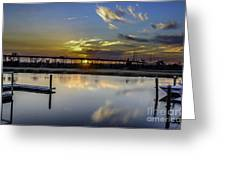 Lowcountry Marina Sunset Greeting Card