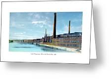 Lowell Massachusetts - Mills On The Merrimack River - 1910 Greeting Card