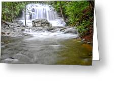 Lower Disharoon Falls Greeting Card by Bob Jackson