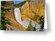 Lower Falls From Uncle Toms Trail Greeting Card