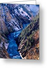 Lower Falls Into Yellowstone River Greeting Card