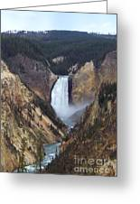 Lower Falls Of The Yellowstone River Greeting Card