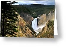 Lower Falls On The Yellowstone River Greeting Card