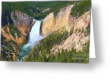 Lower Falls Yellowstone 2 Greeting Card