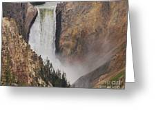 Lower Falls - Yellowstone Greeting Card