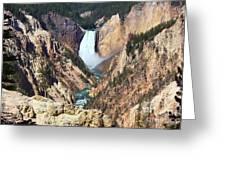Lower Falls Yellowstone Greeting Card
