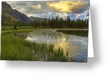 Lower Ice Lake Greeting Card