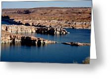 Lower Level Lake Powell Greeting Card