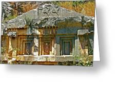Lower-level Tomb In Myra-turkey Greeting Card