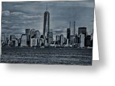 Lower Manhattan And The Freedom Tower Greeting Card