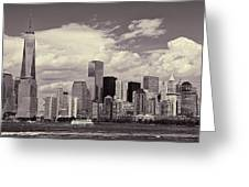 Lower Manhattan Skyline 2 Greeting Card