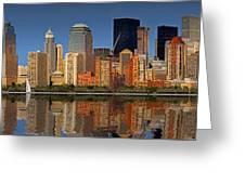 Lower Manhattan Skyline Greeting Card