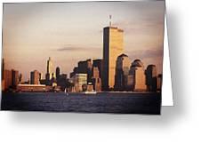 Lower Manhattan World Trade Center Greeting Card by Carol Whaley Addassi