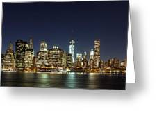 Lower Manhatten Pano Greeting Card