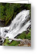 Lower Part Of Red Blanket Falls Greeting Card