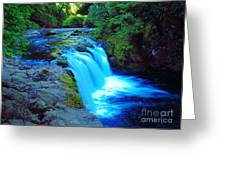 Lower Punchbowl Falls Greeting Card
