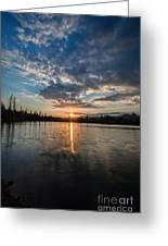 Lower Sunset Lake Greeting Card