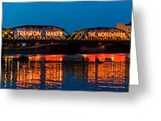 Lower Trenton Bridge Greeting Card