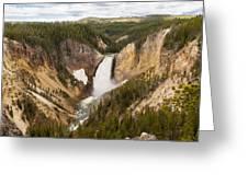 Lower Yellowstone Canyon Falls Greeting Card