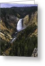 Lower Yellowstone Falls Fall Greeting Card